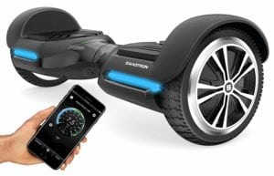 black Hoverboard with a iphone app