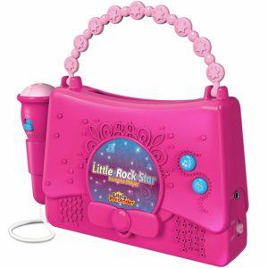 Pink Karaoke Machine with microphone