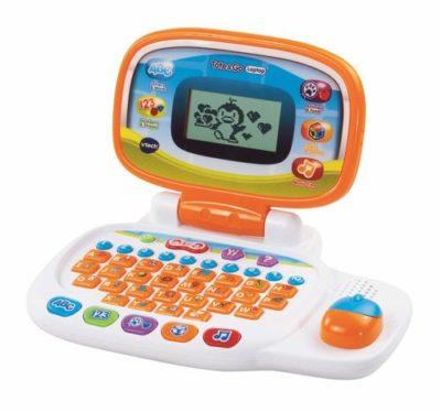 Orange toy laptop