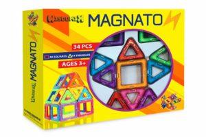 magnetic building tile set