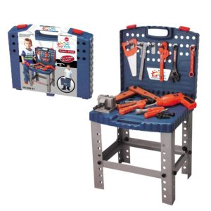toy tool bench set with tools