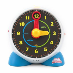 toy clock for learning how to tell the time