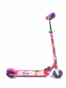 pink folding scooter for age 5 plus