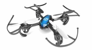 blue quadcopter drone