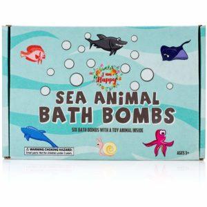 kids bath bomb set with hidden figures