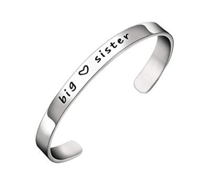This is an image of a stainless steel big sister cuff bangle.