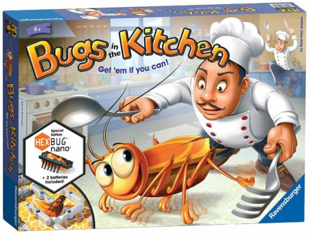 Children's Board Game box set with an image of a bug and a chief chasing the bug