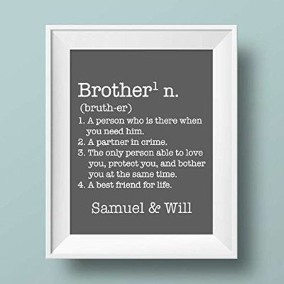 This is an image of a personalized brother definition wall art.