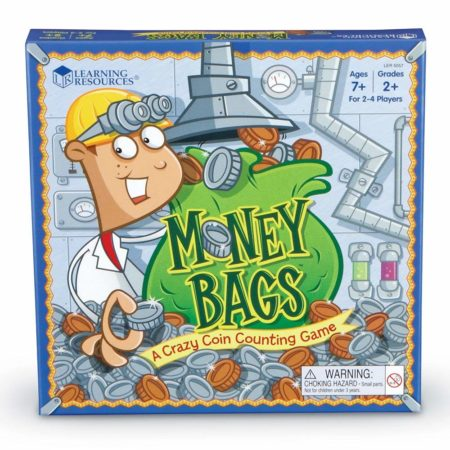 Money Bags Coin Value Board Game Box Set