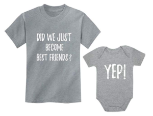 this is an image of a shirt set for siblings