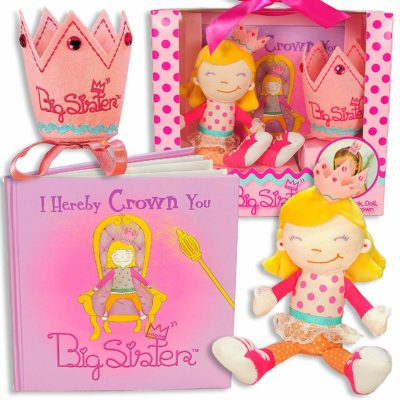 This is an image of a pink big sister gift set.