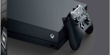 This is an image of a 1 TB X box One X console.