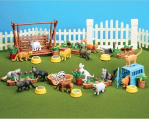 cat figures playset