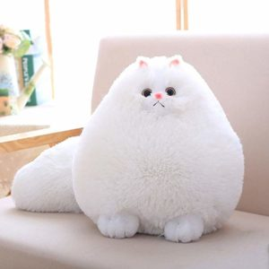 huge round cat plush