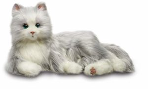 realistic soft cat toy with purring sounds