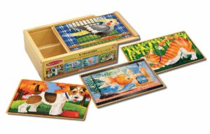 melissa and doug box of 4 puzzles