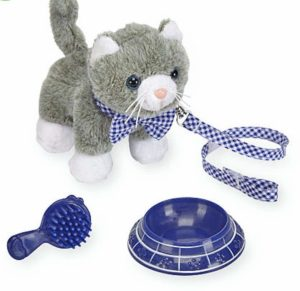 cat plush with accessories