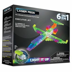 laser peg 6 in 1 plane building kit