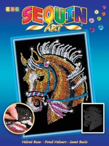 sequin art horse picture