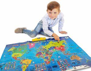 interactive world map mat