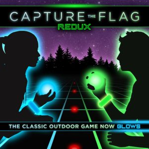 capture the flight light up game for outside