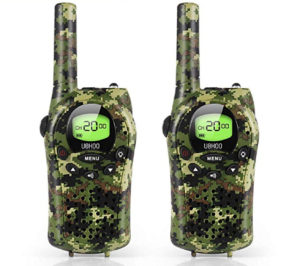 camo walkie talkie set for kids