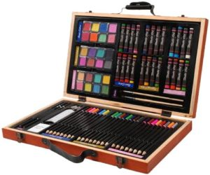 art set for kids with paints and pencils