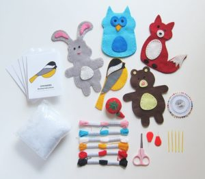 make your own stuffed animals sewing kit