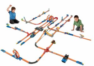 large looping hot wheels track set