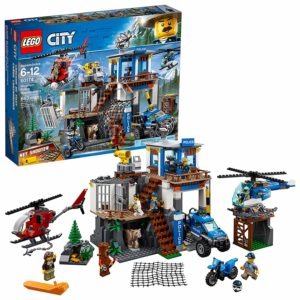 lego city police helicopters building kit