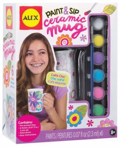 Craft paint and sip ceramic mug for girls