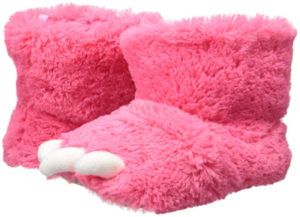 pink monster feet slipper boots