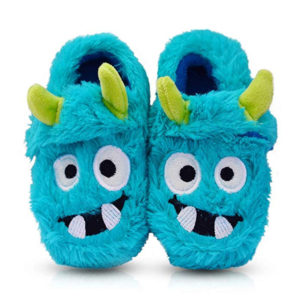 blue monster slippers for toddlers