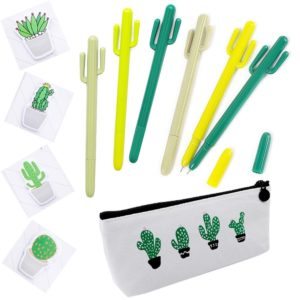 this is an image of a cactus pen set