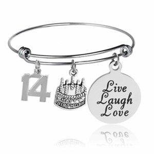 this is an image of a 14th birthday bracelet