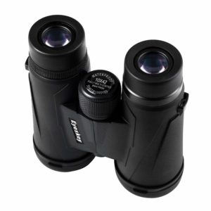 black binoculars for sports and outdoors