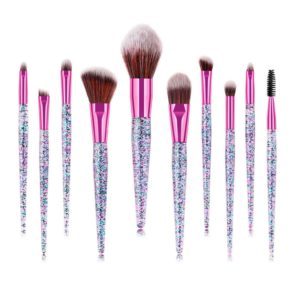 this is an image of a glitter makeup brush set
