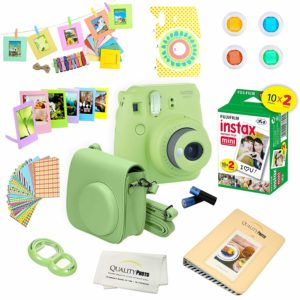 this is an image of a green instax camera