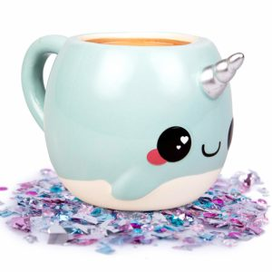 this is an image of a narwhal mug