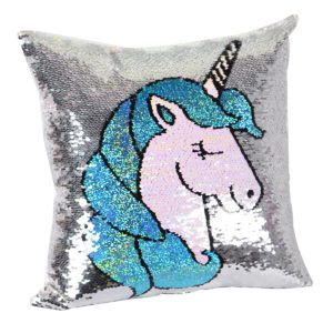 unicorn pillow with changing sequins