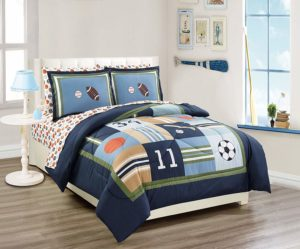 navy sports ball bedding set