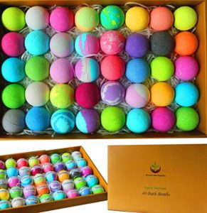gift set with 40 bath bombs