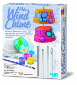 The Make A Wind Chime Kit combines the science of wind power with arts and crafts materials to create and personalize a pair of beautiful wind chimes