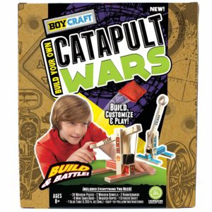 Craft wood catapult war for kids