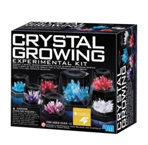 This science kit contains all the materials needed to perform seven different crystal growth experiments