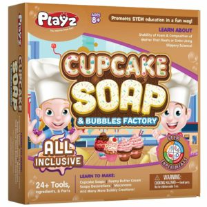 Cupcake soap bubles science factory for kids
