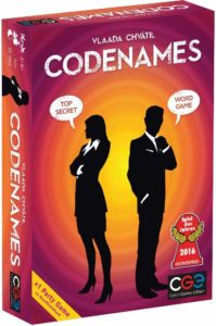 This is an image of a Codenames social word game.