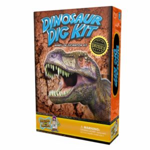 Dinosaur Dig Science Kit Dig Up and Collect 3 Real Dinosaur Fossils