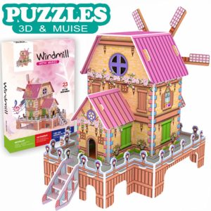Dollhouse Castle Brain Model DIY Building Sets designed for kids
