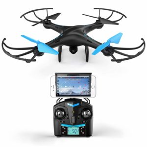 Blue Drone for kids and beginners HD VR quadcopter